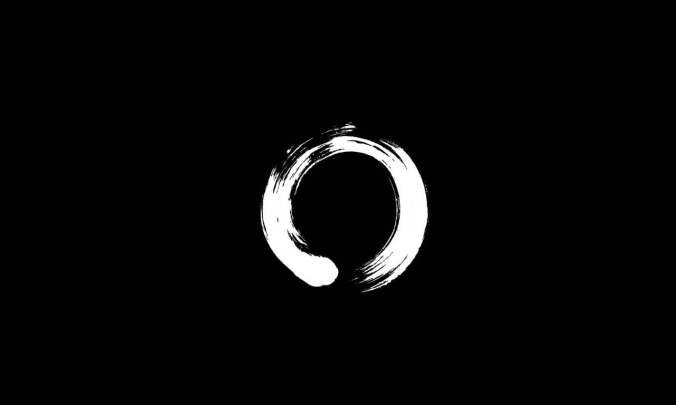 Enso: A circle that is hand-drawn in one or two uninhibited brushstrokes to express a moment when the mind is free to let the body create.